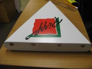 جعبه پیتزا مثلثی
