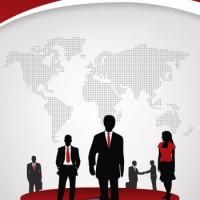 فایل وکتور لایه باز تراکت شرکت تجاری
