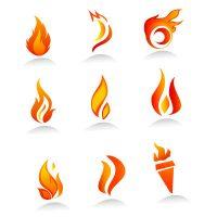 طرح وکتور آتش